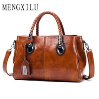 75e9257921f4 Luxury Fashion Casual Boston Totes Bags Handbags Women Famous Brands PU  Leather Brown Vintage Bag Female