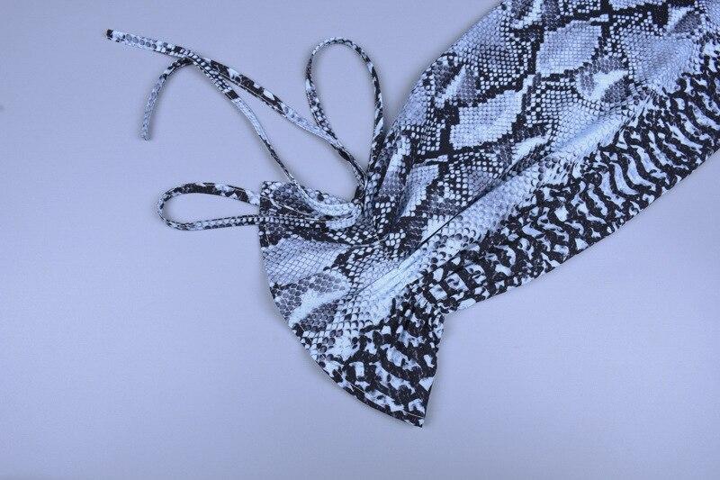 Forefair Snake Print Blouse Women Turtleneck (1)