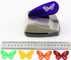 Image 3 - Super Large Size Shaper Punch Craft Scrapbooking butterfly Paper Puncher large Craft Punch DIY children toys
