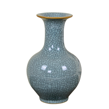 Jingdezhen Ceramic Vase Arrangement Living Room Flower Arrangement Imitating Chinese-style Home Decoration Crafts Official Kiln