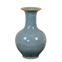 Jingdezhen Ceramic Vase Arrangement Living Room Flower Arrangement Imitating Chinese style Home Decoration Crafts Official Kiln