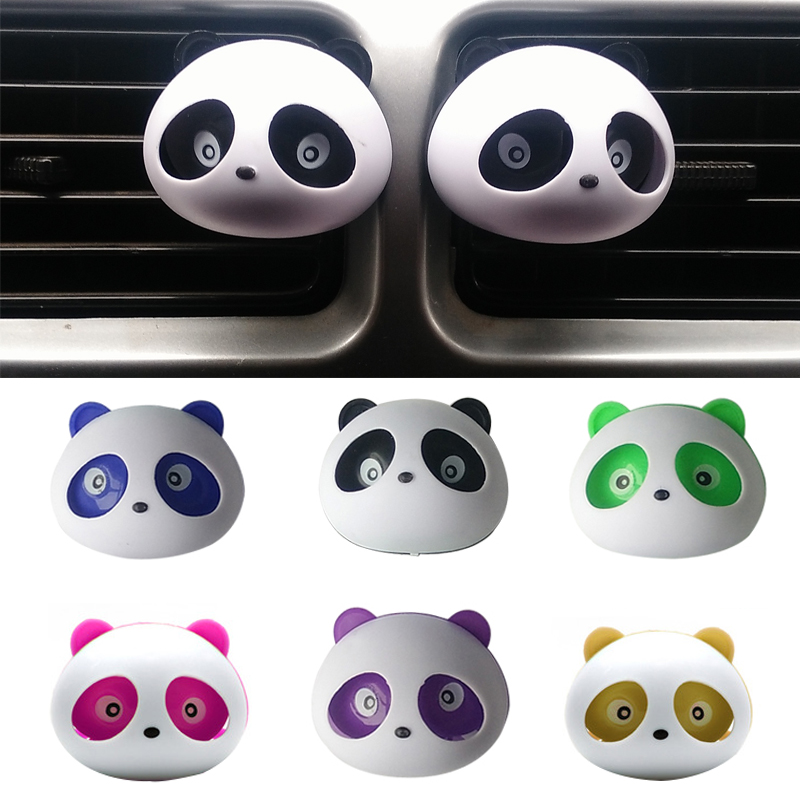 2pcs car-styling Panda Car Perfumes 100 original 5ml Solid Air Freshener OEM Air Conditioning Vent Flavoring In the Car parfums зимняя шина kumho i zen kw31 225 45 r17 94r