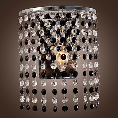 Lustre Crystal Modern LED Wall Lamp Lights With 1 Light For Home Lighting,Lustres Wall Sconce Free Shipping new design nature white 2heads 6w 30cm led modern crystal wall lights lamp sconce factory wholesale led lightings