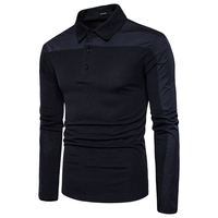 Fashion New Brand Hot POLO Men S Casual Long Sleeve Shirts Clothes 4 Color Cotton Blends