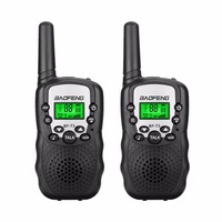 2Pcs BaoFeng Mini Walkie Talkie Outdoor Kids Interphones Portable Adventure Radio Transceiver Lightweight Handheld Transceiver
