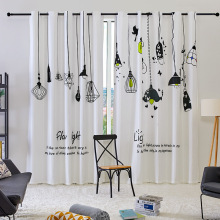 Korean Small Fresh Scandinavian Light Bulb Shade Curtains Customized For Living Dining Room Bedroom Window
