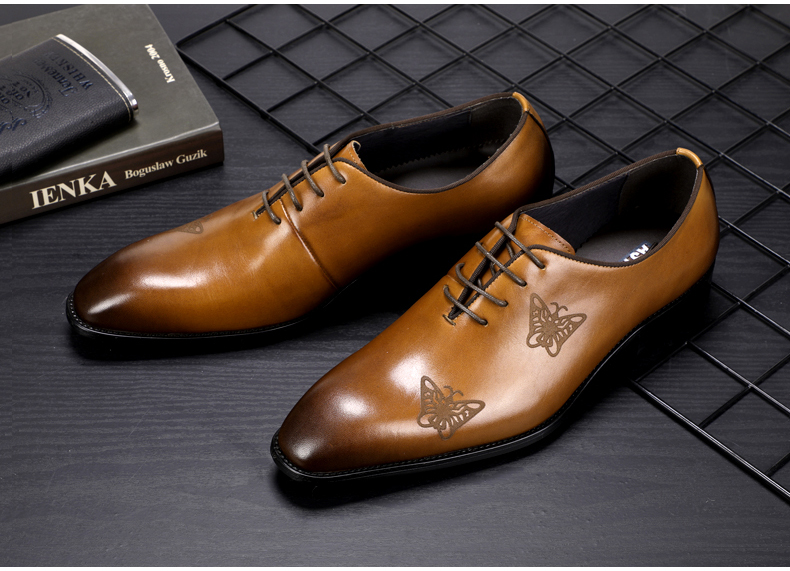 Men`s Leather Casual Shoes Business Mens Genuine Leather Moccasins Men Oxfords Shoe Office Casual Leather Shoes Men Big Size 45 (4)