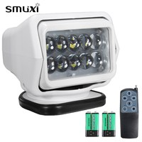 Smuxi Professional 50W White Remote Control Boat Car Searchlight Wireless Work Spotlight Magnetic Base Outdoor Lighting