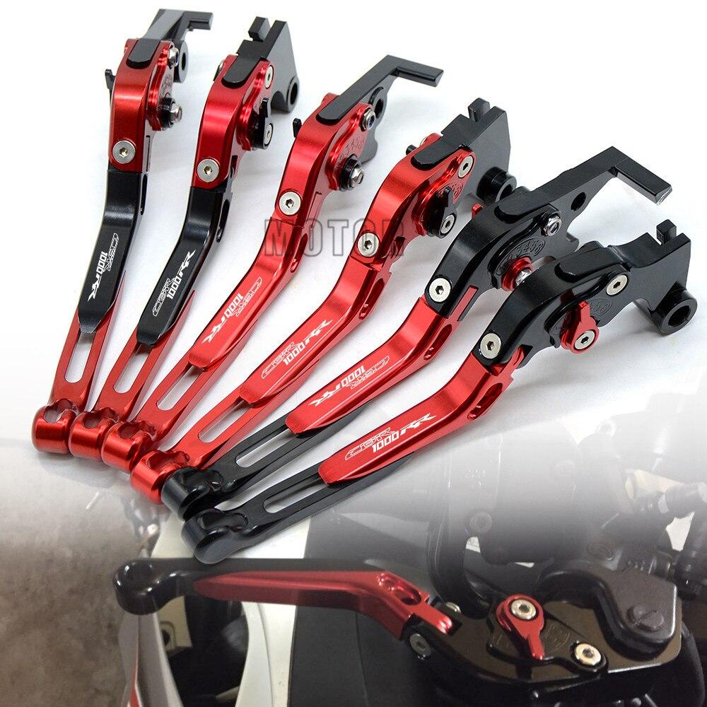 Palancas de embrague y de freno en CNC plegables y extensibles para motocicleta Honda CBR1000RR//FIREBLADE 2004 2005 2006 2007