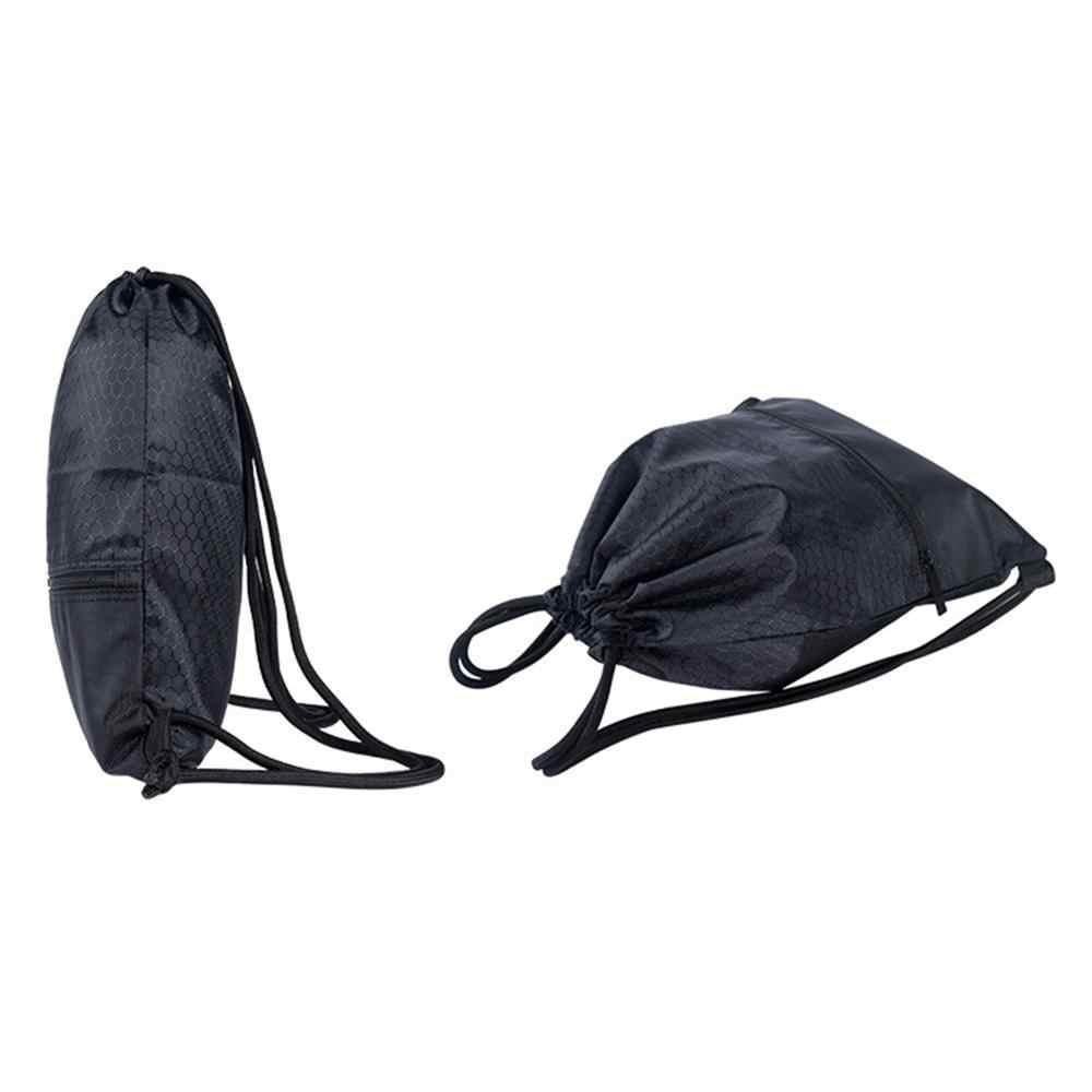 Sac à dos Portable en Nylon pour hommes et femmes, sacs de voyage de grande capacité pour enfants à bandoulière à cordon de serrage, sac avec fermeture à glissière