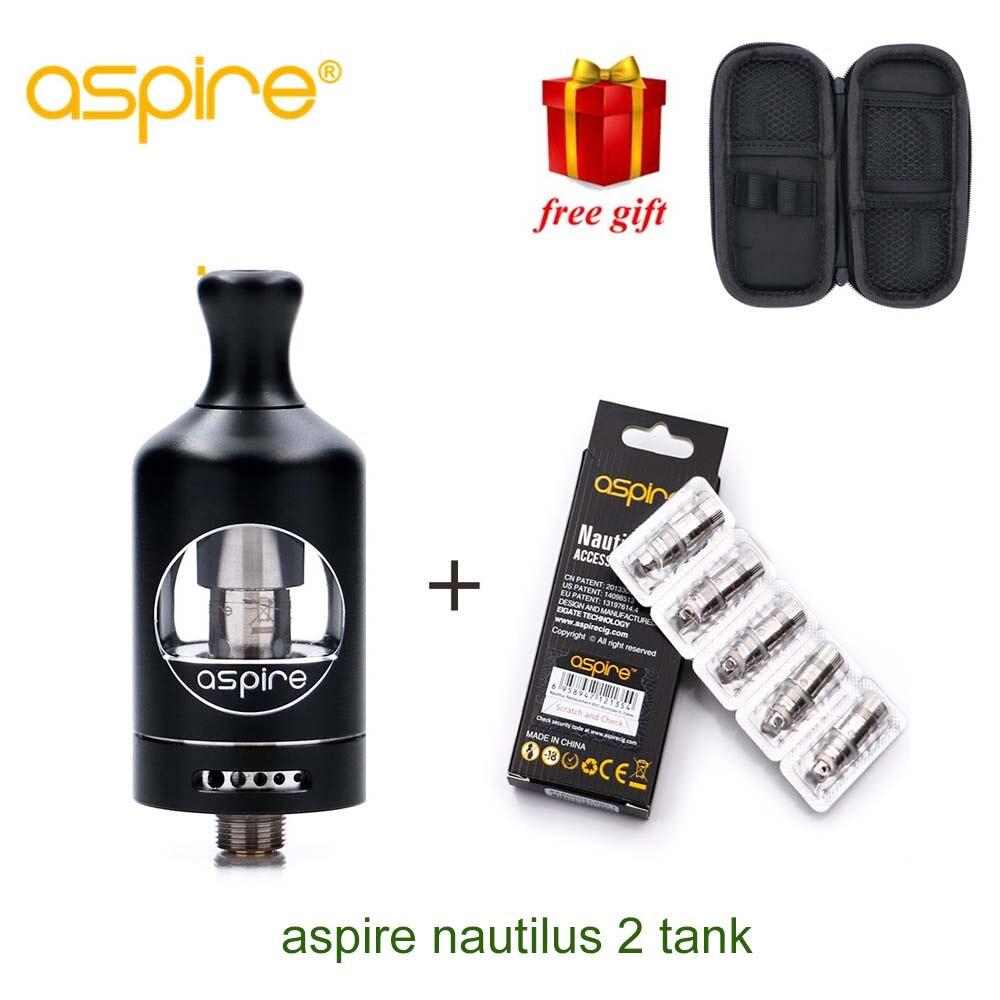 Originale Aspire Nautilus Serbatoio di 2 e 5 pz nautilus 2 0.7ohm BVC bobine 2 ml TPD Aspire Atomizzatore Adatto Per aspire Zelos 50 w Mod