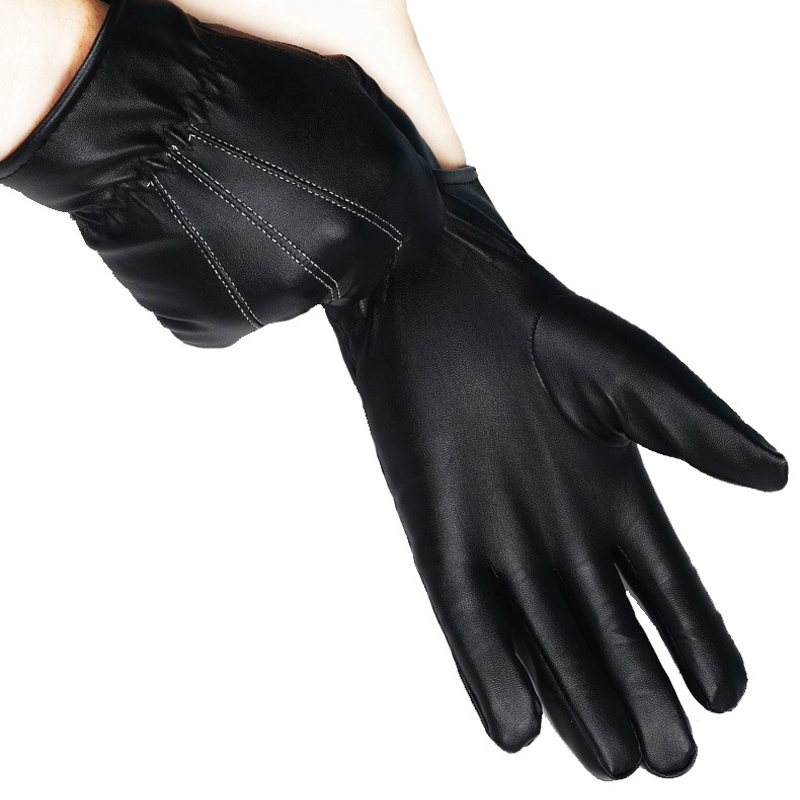 HTB1k0S9dPgy uJjSZLeq6yPlFXaI - 1 Pair Women's Glove PU Leather/Suede Velvet Winter Driving Gloves Rabbit Fur Warm Outdoor Touch Screen Bow Gloves Mittens