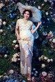 Adereços Fotografia de maternidade Mulheres Maxi Vestido De Maternidade Grávida Vestido de Renda Fantasia Tiro Foto Vestido de Grávida