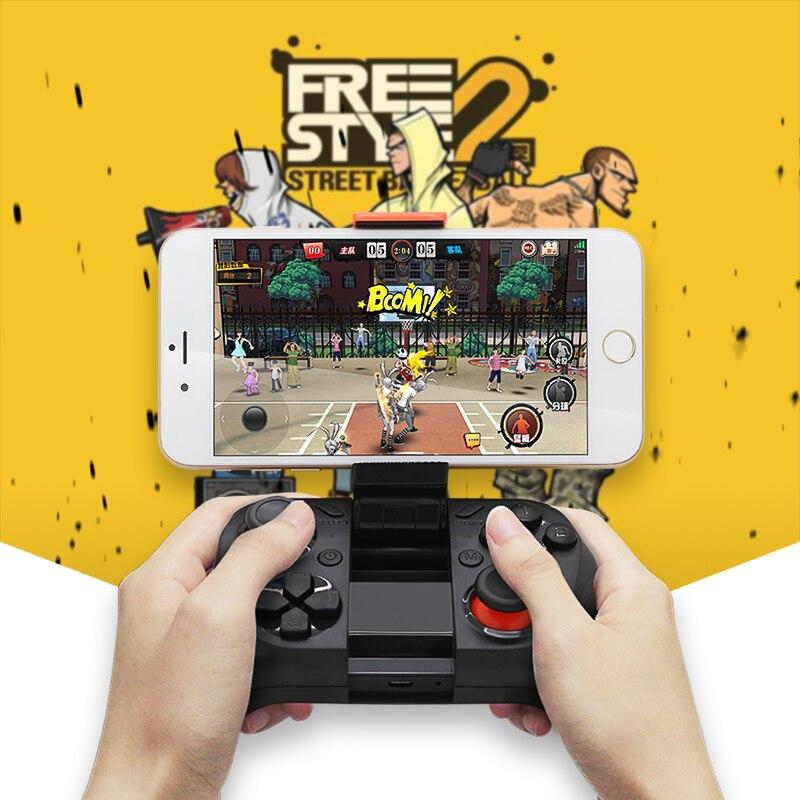 MOCUTE Wireless Gamepad Bluetooth Gaming Controller Selfie Fern Gamer Joystick für Iphone und Android smartphones mit halter