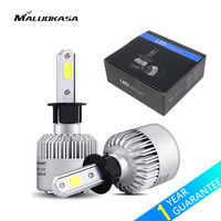 MALUOKASA 2PCs S2 Car COB H7 LED Headlight Bulb H1 HB2 9003 H4 Hi Lo Beam