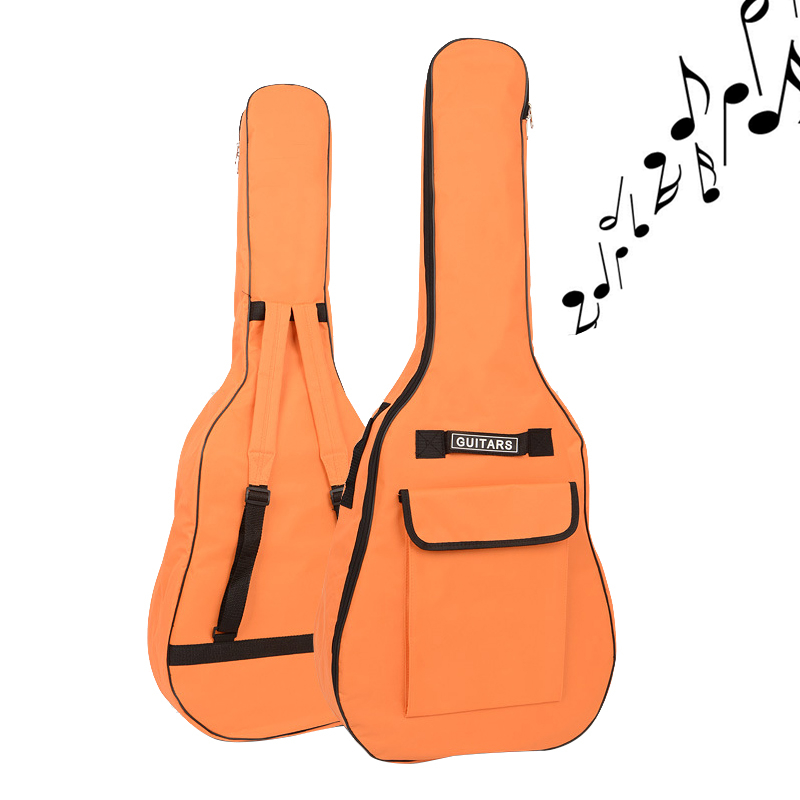 40 / 41 Inch Portable Oxford Fabric Acoustic Guitar Gig Bag Soft Case Double Shoulder Straps Padded Guitar Waterproof Backpack
