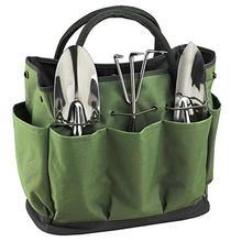 Многофункциональный портативный садовый набор большой емкости зеленая садовая сумка для хранения ткань Оксфорд водонепроницаемый многослойное хранение