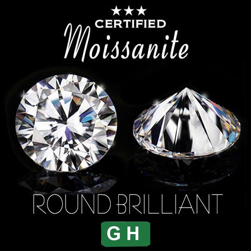 100% Wahr Nicegems Moissanite 7,5mm Gh Farblose Runde Ausgezeichnete Herzen Und Pfeile Cut Lab Grown Moissanite Diamant Lose Stein 1,5 Karat