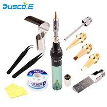 12 in 1 High Quality MT-100 Electronics DIY Tool Gas Soldering Iron Gun Blow Torch Cordless Solder Iron Pen  Butane Gas Gun Kit