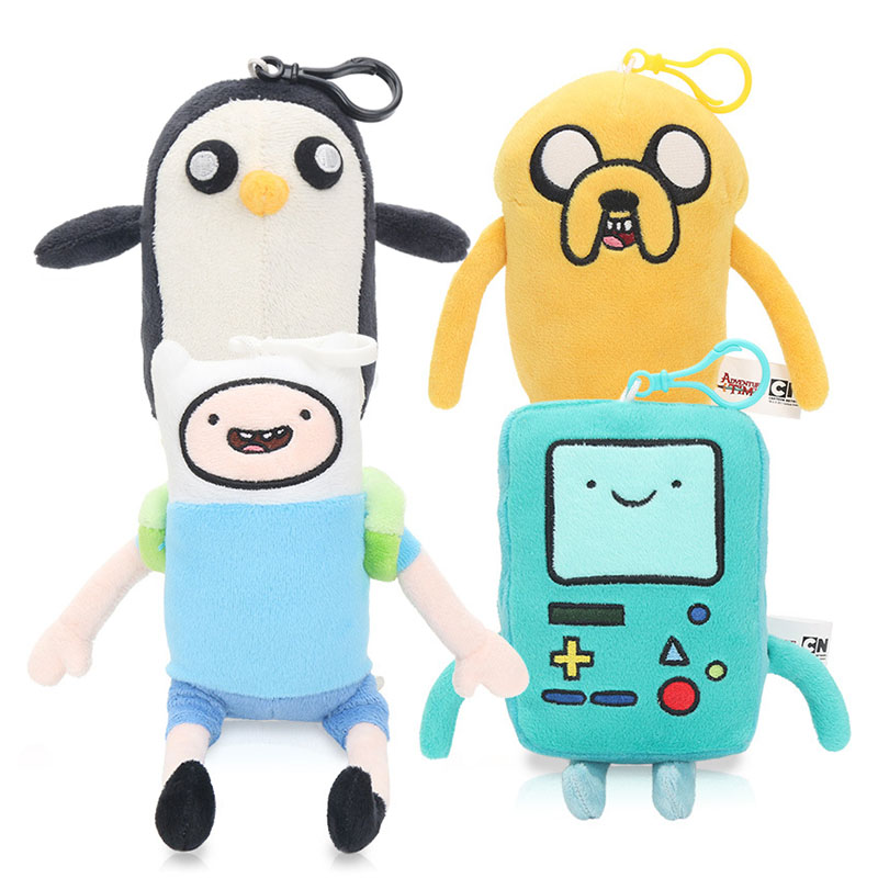 Adventure Time Plush Doll Toy Jake Finn Beemo BMO Gunter Lumpy Soft Doll Toys Keychain S ...
