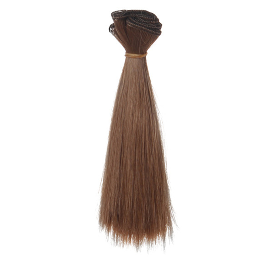 1 Pc 15*100cm Doll Accessories Straight Synthetic Fiber Wig Hair For Handmade Cloth High-temperature Wire Diy Texitle-3