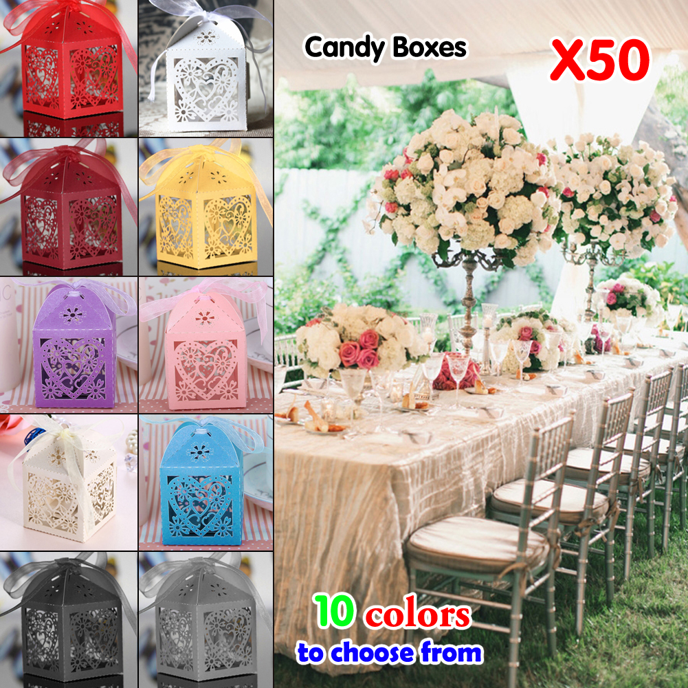cheapfree shipping wedding invitations mariage 50pcs floral laser cut party sweet wedding favor candy