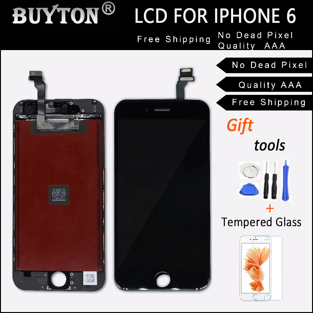 BUYTON 100%Brand New AAA+ LCD For iPhone 6 6G 4.7 inch Display Touch Screen Digitizer Assembly with Touch Screen+Tool Kits