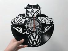 Stylowy Zegar Ścienny Płyta Winylowa Volkswagen Hit!