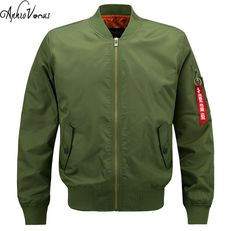 5XL 2017 Autumn Air Force One jacket jaqueta mens causal brand Embroidery business jacket Amry bomber