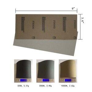"""Image 2 - Papier abrasif étanche 42 pièces 320 à 10000 grain, 9 """"x 3.6"""", pour la finition de meubles en bois, le ponçage des métaux et le polissage automobile"""