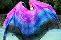 design 100% real silk belly dance veil,cheap dance veils,tari perut kostum veil wholesale rose+purple+turquoise+royal blue+black