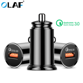 OLAF QC Quick Charge 3.0 Mini Single USB Car Charger For iPhone 6 7 8 Plus X XR XS Max Fast Phone Car Charger For Samsung S8 S9