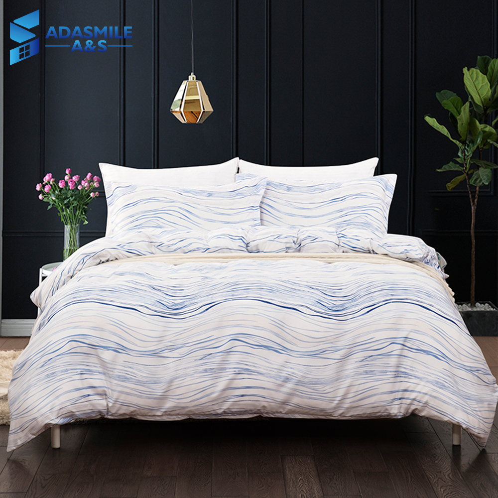 Adults Comfortable Soft Simple White Wavy Lines Duvet Cover Bed Linens Pillowcases Comforter Bedding Bed Set US King AU Double Adults Comfortable Soft Simple White Wavy Lines Duvet Cover Bed Linens Pillowcases Comforter Bedding Bed Set US King AU Double