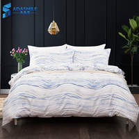 Adult's Comfortable Soft Simple White Wavy Lines Duvet Cover Bed Linens Pillowcases Comforter Bedding Bed Set US King AU Double
