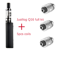 Original Justfog Q16 Starter Kit 900mah Battery Mod 2ml Elektronik Sigara Clearomizer Tank 5pcs Q16 Coil