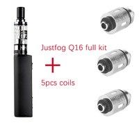 Original Justfog Q16 Starter Kit 900mah Battery Mod 2ml Elektronik Sigara Clearomizer Tank 5pcs Q16 Coil
