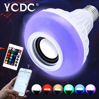 YCDC Wireless Bluetooth Speaker Bulb E27 Smart RGB RGBW Dimmable LED Music Player Audio Light Lamp