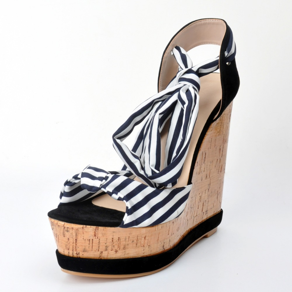 ФОТО PADEGAO+2017 Fashion High Heel Waterproof Pump Flock  Women Sandals Lady Shoes Sandals Party Increased  Sandals Plus Size