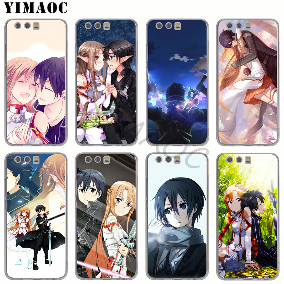 Binful Sword Art Online Sao Anime Clear Cover Case For Huawei P30 P20 Mate20 Pro P8 P9 P10 Mate10 Lite Mini 2017 Plus Psmart Hot Cellphones & Telecommunications Phone Bags & Cases