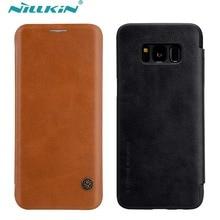 СПС Samsung Galaxy S8 случае 5.8 дюймов Nillkin Qin Series искусственная кожа флип чехол для Samsung Galaxy S8 плюс крышка 6.2 дюймов
