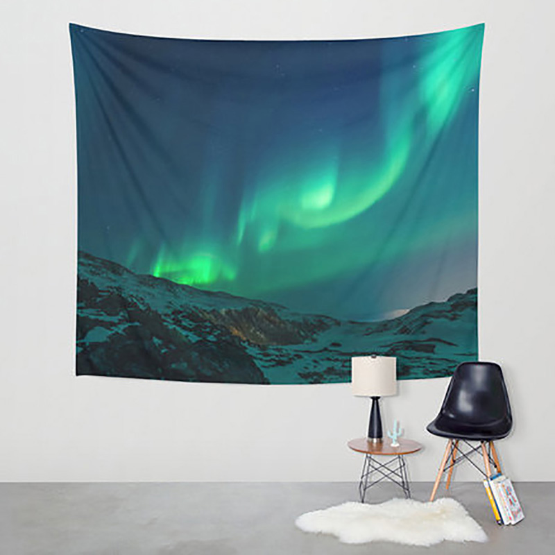 2018 New Tapestry Aurora Wall Hangings Throw Decoration Boho Home Decor Outdoor Picnic Mat Towel Square Colorful Sofa/bed Cover Fast Color Garden Supplies