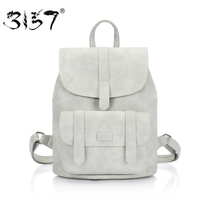 3157 Fashion Women Leather Backpack For Teengaers Girls Famous Designer Cute School Bags Ladies High Quantity
