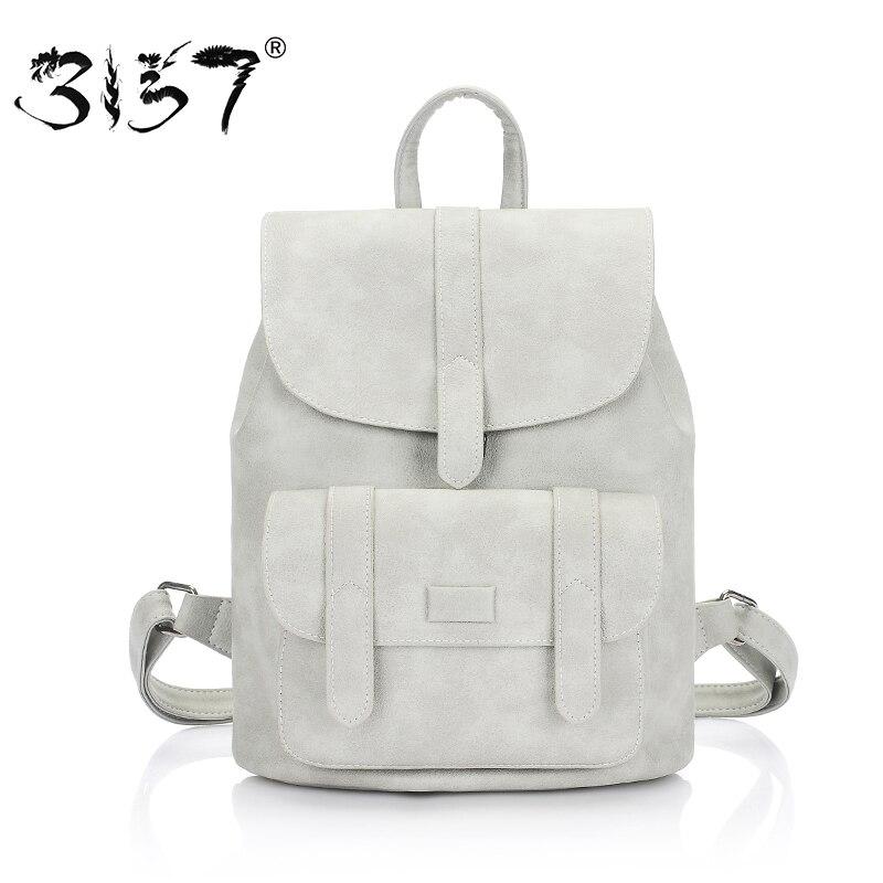 3157 Модные женские кожаные рюкзак для teengaers девочек известный дизайнер Симпатичные Школьные сумки дамы высокого качества женские рюкзаки