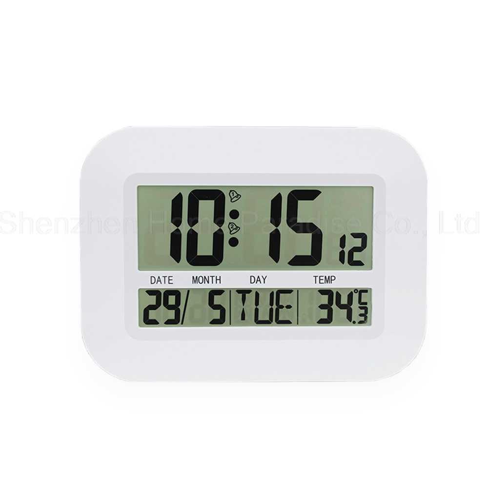 Декоративные цифровые настольные часы светодиодный цифровые часы с режимом включения по таймеру календарь термометр настольные висит настенные часы домашний декор