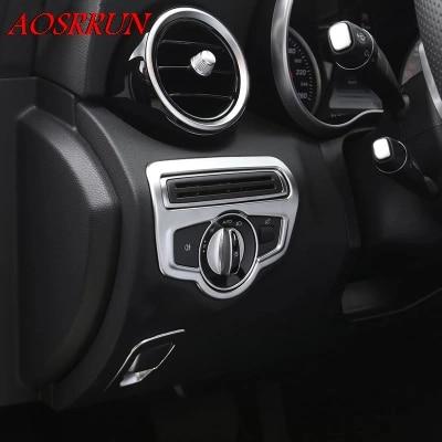 Fit Benz GLC GLC300 2016-2018 Interior Headlight Switch Pannel Cover Trim