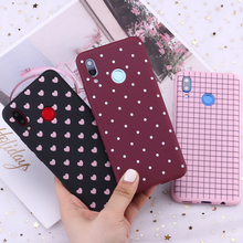 For Huawei Honor Mate 10 20 Nova P20 P30 P Smart Polka Dot Striped Heart Burgundy Candy Silicone Phone Case Capa Fundas Coque
