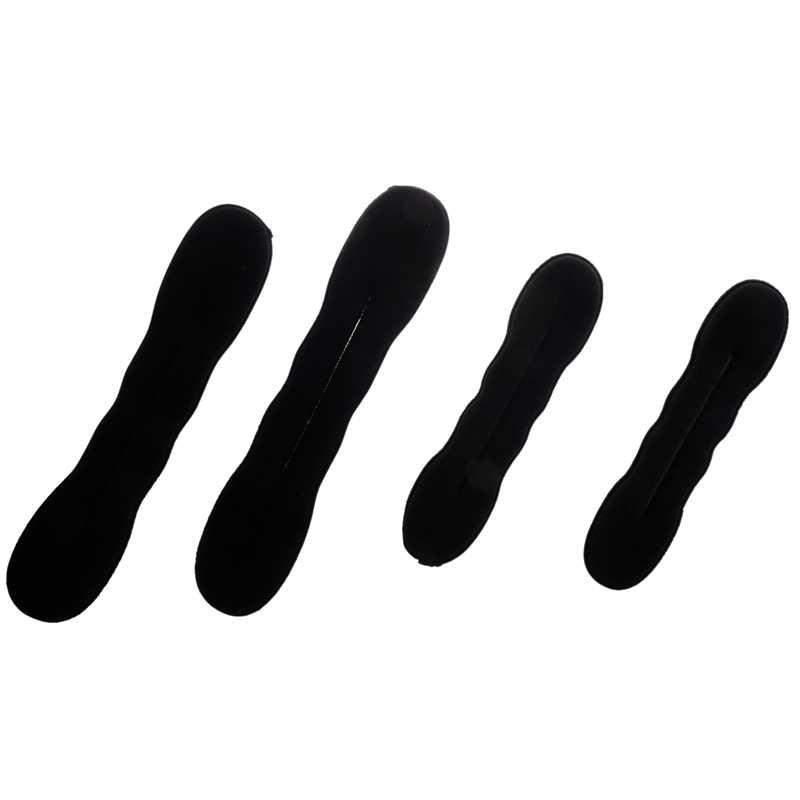4 шт. волшебный Поролоновый спонж зажим для укладки волос пончик булочка Former Maker 2 больших + 2 маленьких #