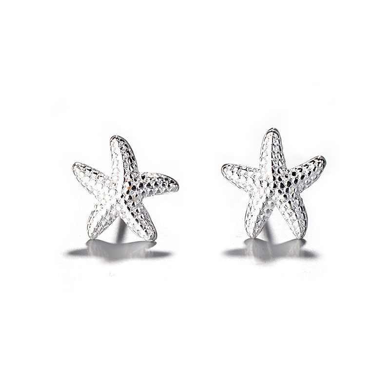 f12ee1dc23cb7 2018 New Stud Earrings For Women Hamsa Hand Starfish Angle Tree Cute ...
