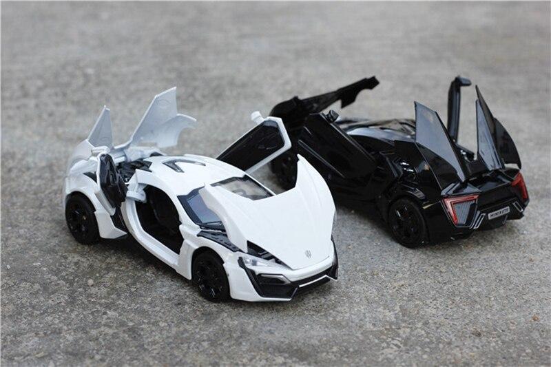 1:32 çocuk oyuncakları Hızlı ve Öfkeli 7 Lykan Hypersport Mini Oto metal oyuncak arabalar model geri çekin araba minyatürleri hediyeler çocuklar için