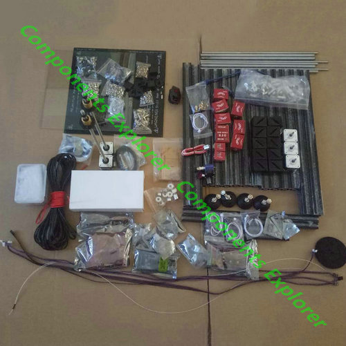 Full Kits For HyperCube Evolution Dual Z Axises Black 3D Printer 300*300*400